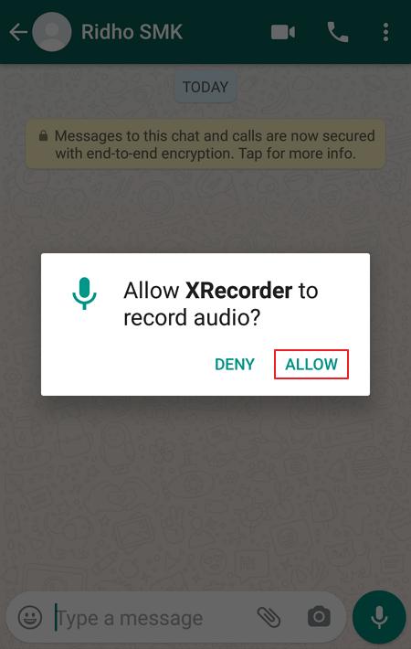 Merekam Video Call WhatsApp 6