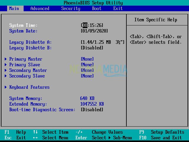 komputer tidak bisa booting layar hitam