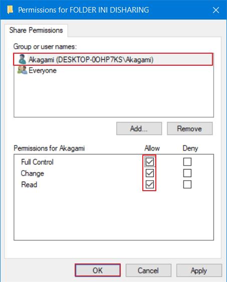 mengatasi windows cannot access 7