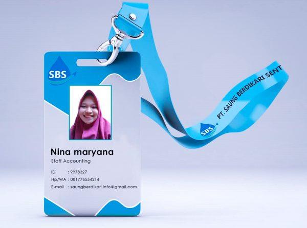 Contoh ID Card untuk Karyawan