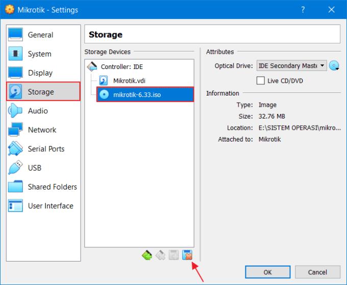 Install RouterOS Mikrotik di VirtualBox 14