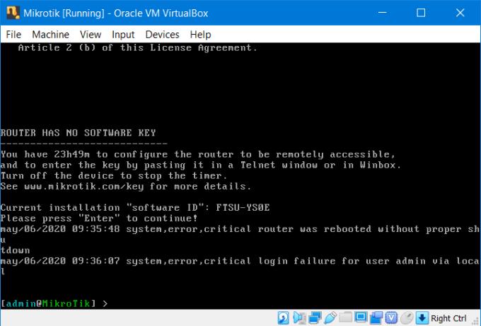 Install RouterOS Mikrotik di VirtualBox 16