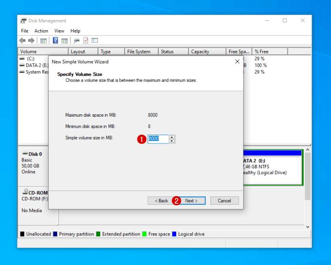 Menambahkan Kapasitas Partisi C di Windows 13