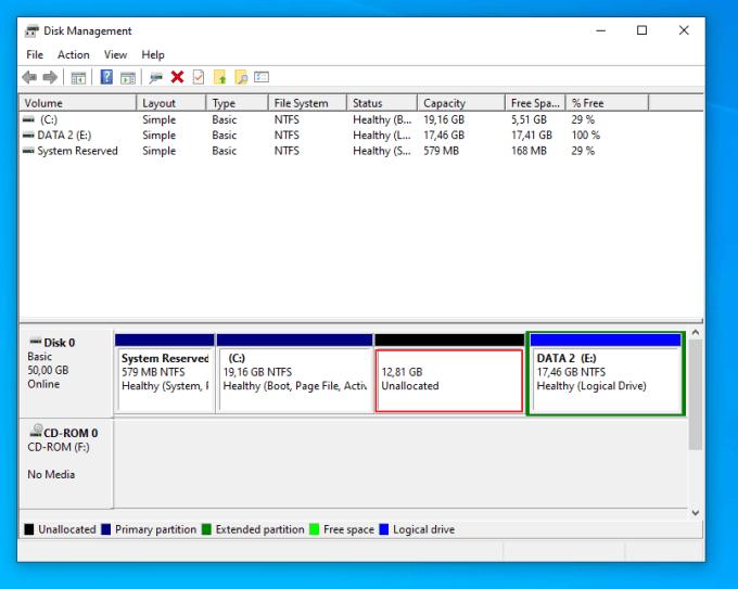 Menambahkan Kapasitas Partisi C di Windows 5