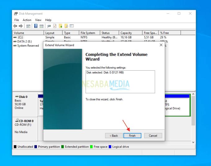 Menambahkan Kapasitas Partisi C di Windows 9