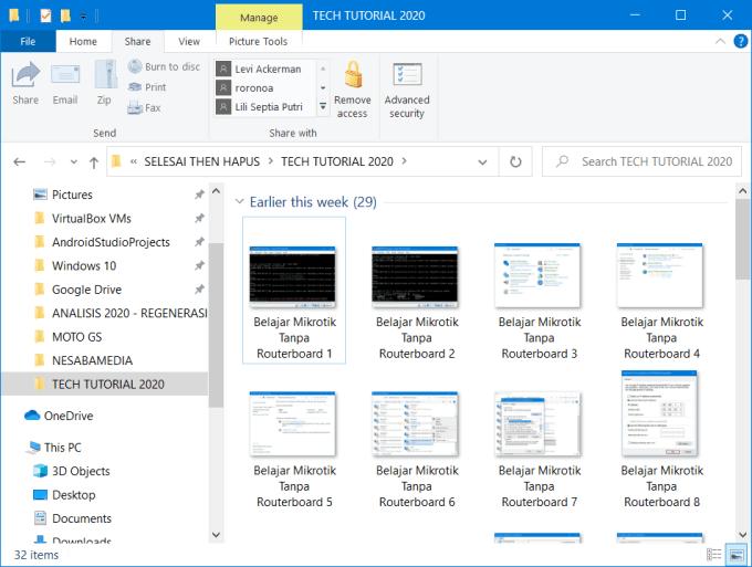Cara Menampilkan Gambar di Windows Explorer Tidak Terdeteksi