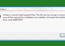 Cara Mengatasi Windows Cannot Install Required Files