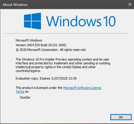 Windows 10 Insider Preview Build 20152 (Sumber: Windows TenForums)