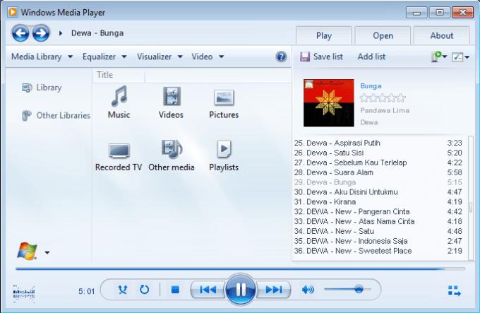 Aplikasi Pemutar Musik untuk PC / Laptop Terbaik
