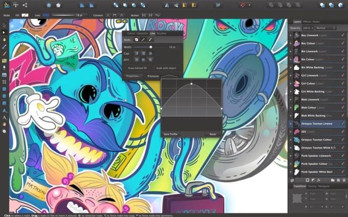 Aplikasi untuk Membuat Logo Laptop adalah Affinity Designer