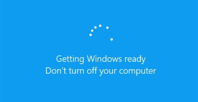 Pembaruan Windows 10 Update Screen