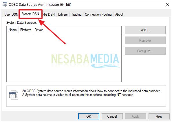 Cara Setting ODBC di Windows 10 32 Bit