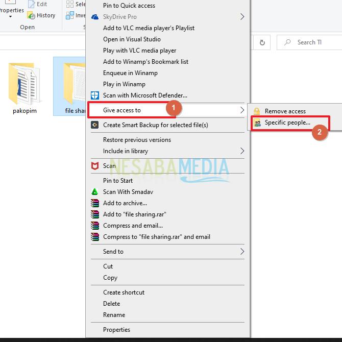 cara sharing data windows 10 via wi fi