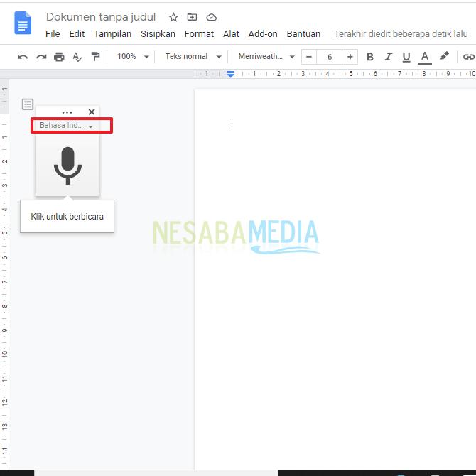 Cara Mengetik Dengan Suara di Google Docs Terbaru