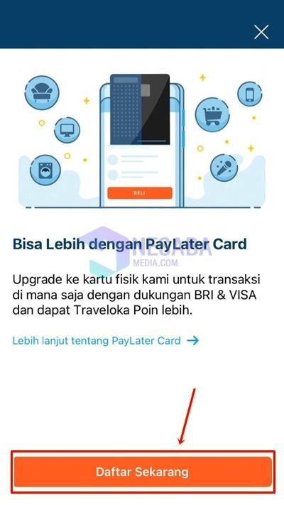 paylater card traveloka ditolak