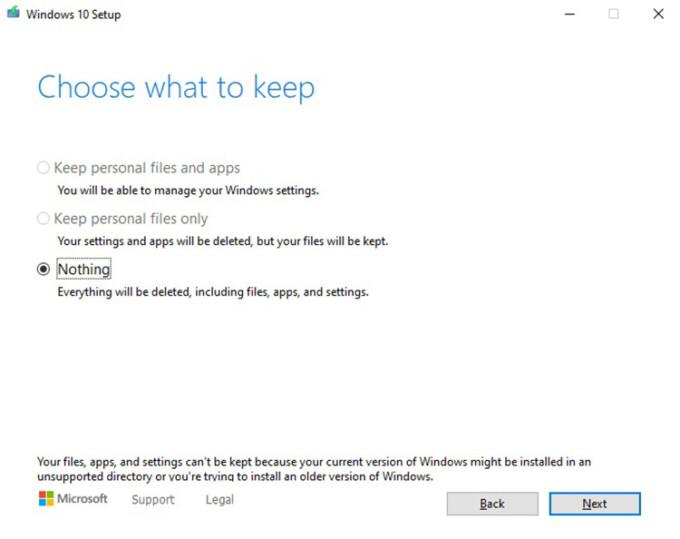 Bug Windows 10 Pemasangan Ulang File Pribadi Tidak Tersimpan