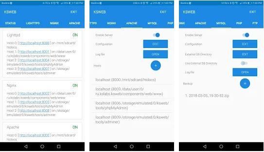 Aplikasi Web Server untuk Android