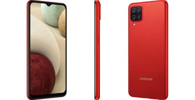 Smartphone Samsung Galaxy A12 Merah