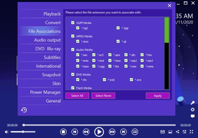 Support Banyak Format Video dan Audio