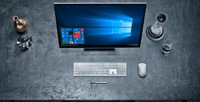 Tampilan Antarmuka Windows 10 di PC