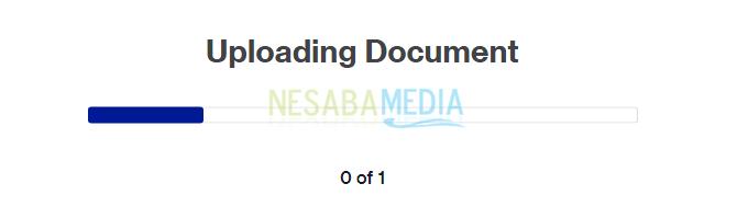 uploading document