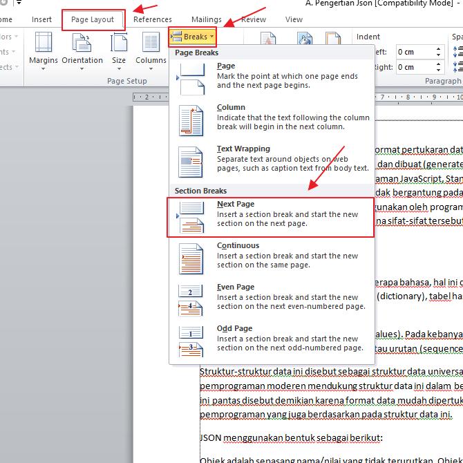 cara menghapus header dan footer di word