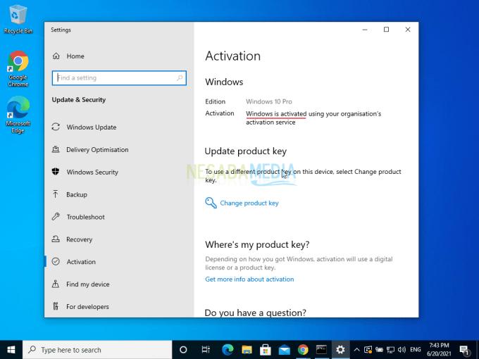 Aktivasi Windows 10 Step 10