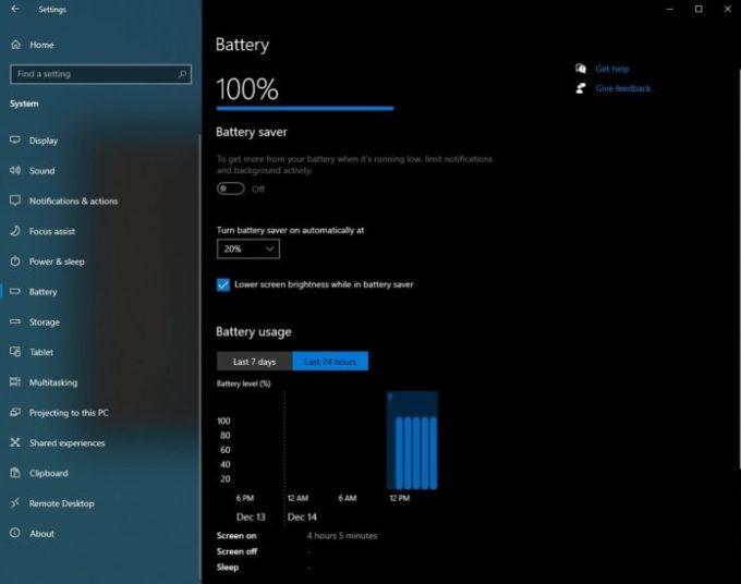 Fitur Monitor Baterai di Windows 10