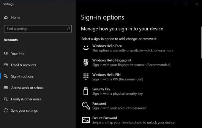 Fitur Windows Hello di Windows 10