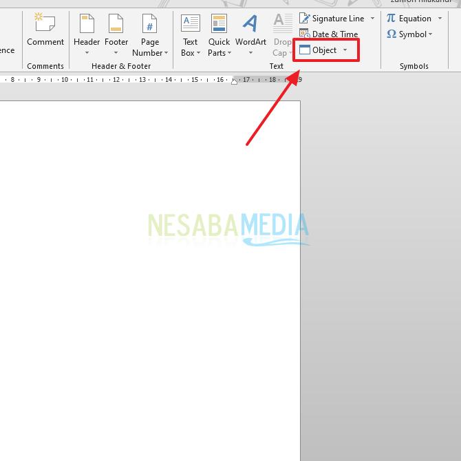 klik menu Object