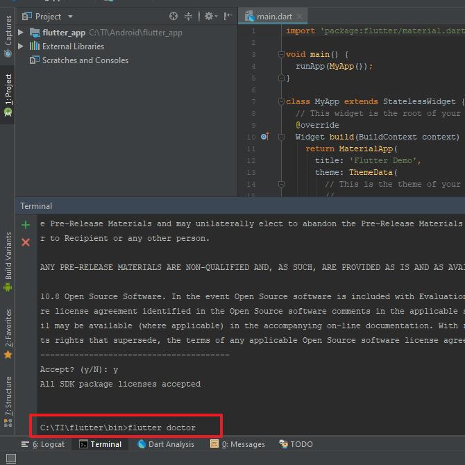 cara install flutter di androiud studio