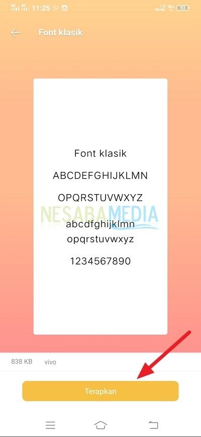 menambahkan atau menginstal font di Android