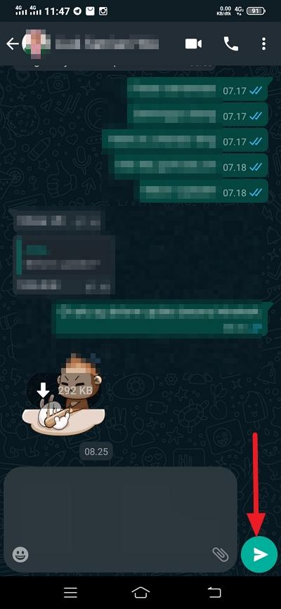 cara mengirim chat kosong di whatsapp