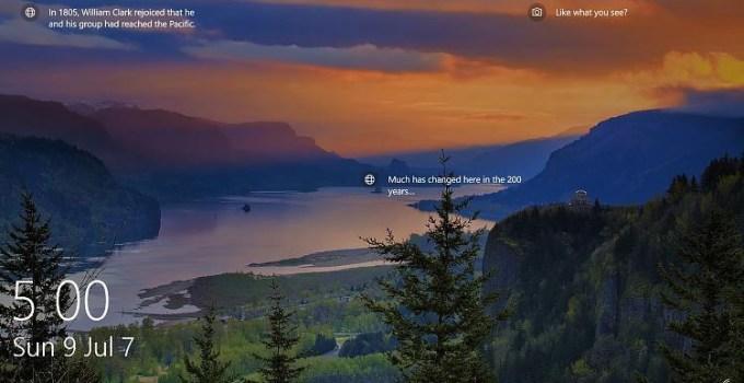 Windows 10 Lock Screen Fitur Baru