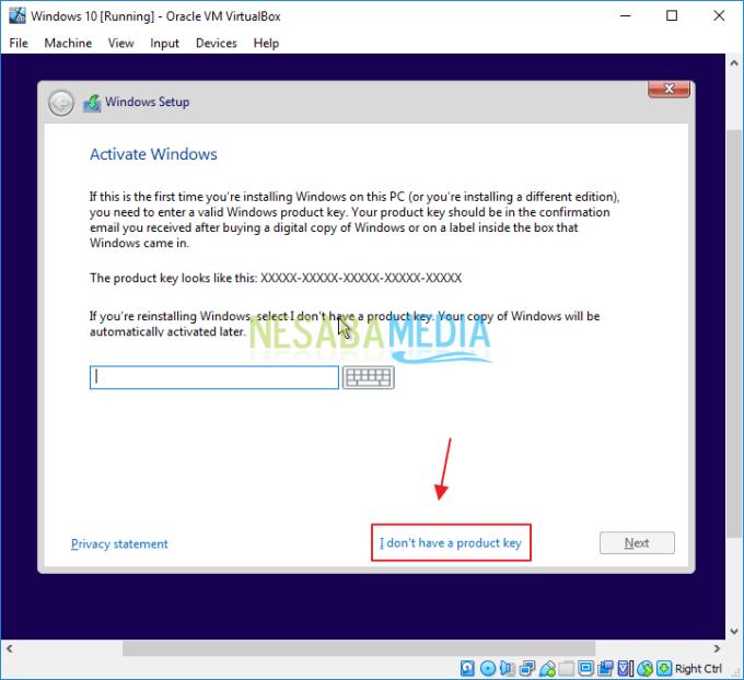 Cara Install Windows 10 di Virtualbox Hingga Selesai