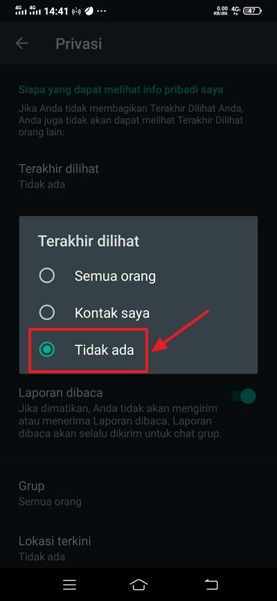 klik tidak ada