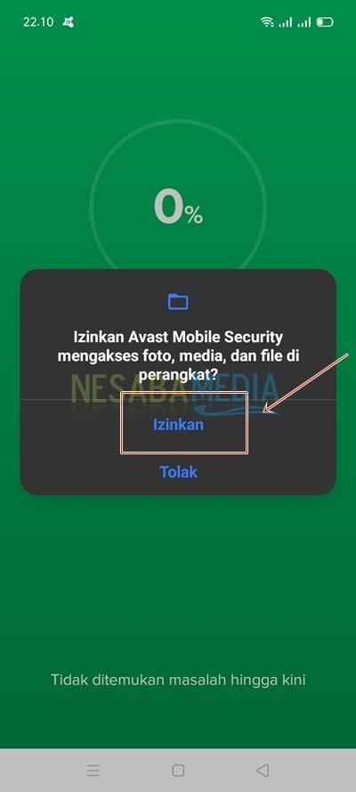 • Scanning dengan Avast Antivirus