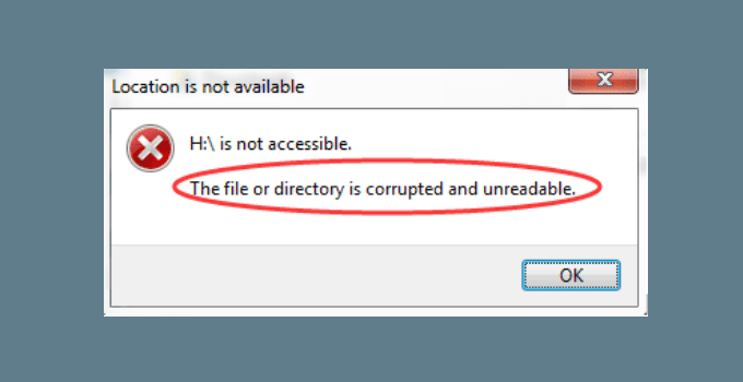 Cara Mengatasi The File Or Directory Is Corrupted And Unreadable di Windows