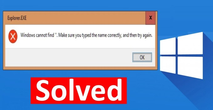 Cara Mengatasi Windows Cannot Find Make Sure You Typed The Name Correctly