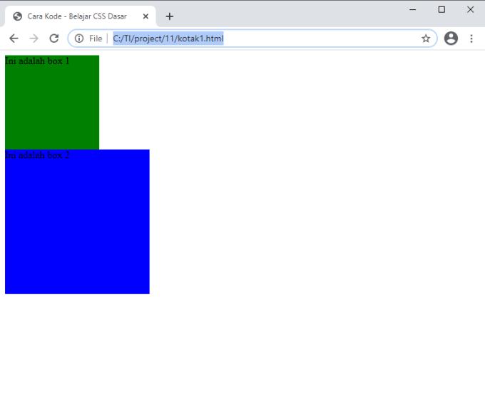 membuat kotak di HTML