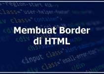 Cara Membuat Border di HTML