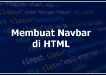 Cara Membuat Navbar HTML dan CSS