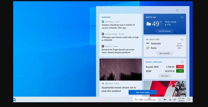 Microsoft Hadirkan Fitur News and Interest Ke Lebih Banyak Pengguna Windows 10
