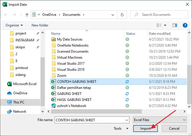 klik import
