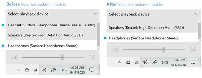Tampilan Pengaturan Audio Bluetooth