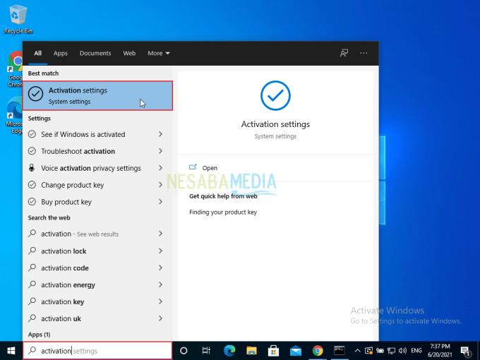 Cara Aktivasi Windows 10 Tanpa Software