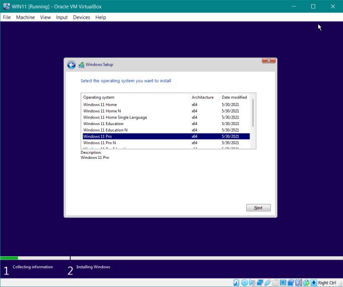 versi Windows 11