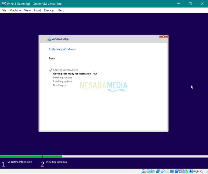proses instalasi Windows 11 hingga selesai