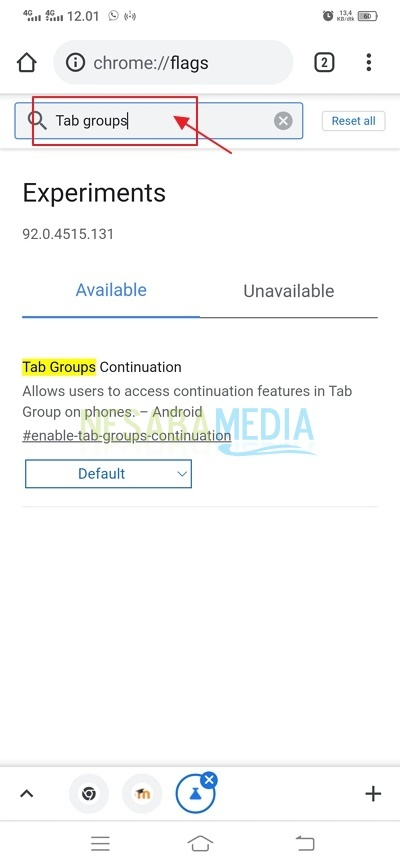 cari tab groups