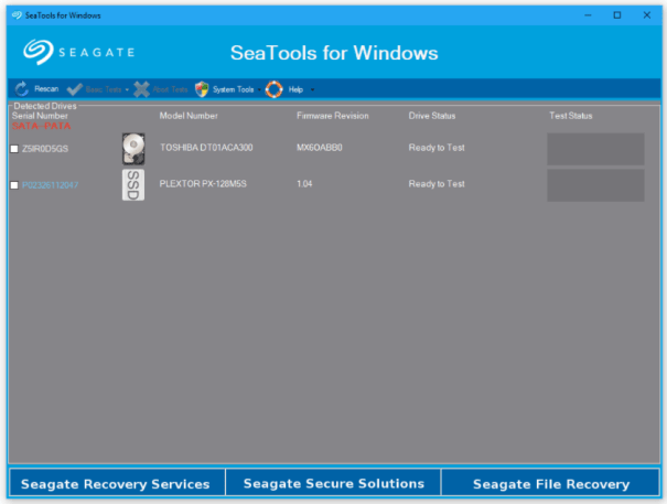 Download Seagate Seatools